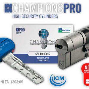 Фото 7 - Цилиндры  Mottura Champions Pro 77 ключ-тумблер.
