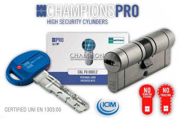Фото 1 - Цилиндры  Mottura Champions Pro 67 ключ-ключ.