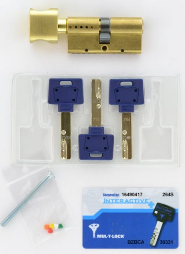 Фото 2 - Цилиндр MUL-T-LOCK DIN_MOD_KT *INTERACTIVE+ 130 EB 60x70T TO_SB CAM30 3KEY DND3D_BLUE_INS 264S+ BOX_S.