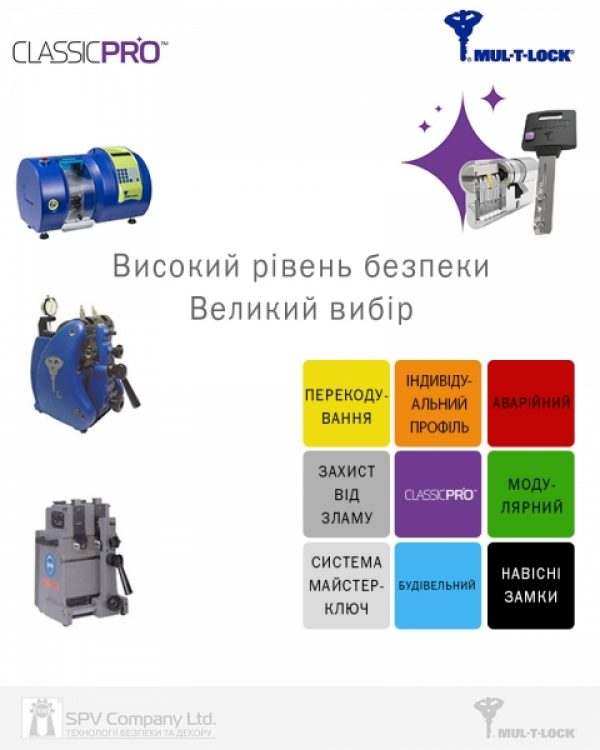 Фото 3 - Цилиндр MUL-T-LOCK DIN_KT XP *ClassicPro 95 NST 45x50T TO_BE CAM30 VIP_CONTROL 2KEY+3KEY DND3D_PURPLE_INS 4867 BOX_S.