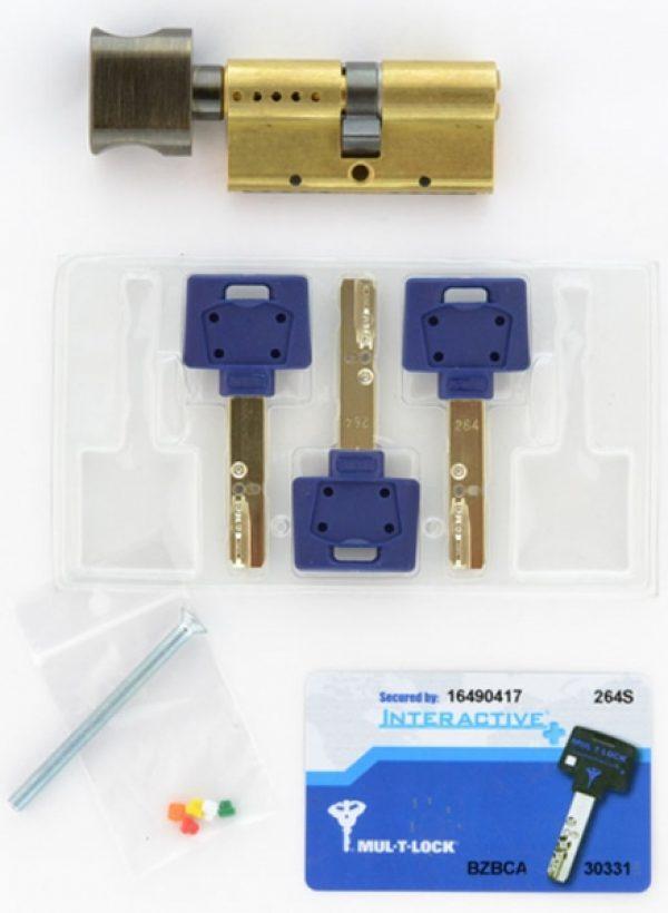 Фото 2 - Цилиндр MUL-T-LOCK DIN_KT XP *INTERACTIVE+ 110 EB 55x55T TO_ABR CAM30 3KEY DND3D_BLUE_INS 264S+ BOX_S.