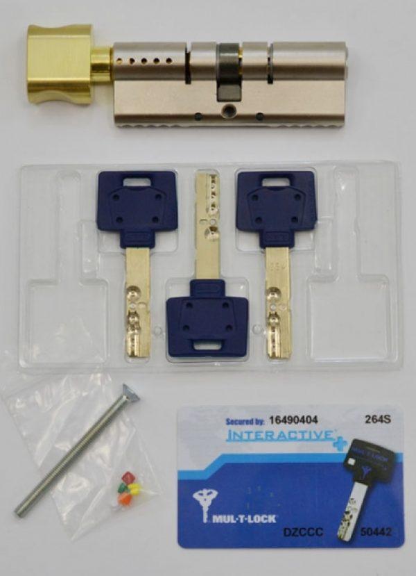 Фото 3 - Цилиндр MUL-T-LOCK DIN_KT XP *INTERACTIVE+ 90 NST 45x45T TO_SB CAM30 3KEY DND3D_BLUE_INS 264S+ BOX_S.