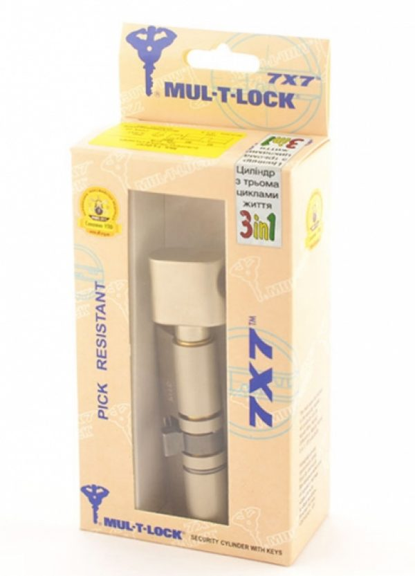 Фото 3 - Цилиндр MUL-T-LOCK DIN_KT 7x7 95 NST 45x50T TO_NST CAM30 3in1 3KEY+1KEY+1KEY DND77_GREY_INS 0767 BOX_M.