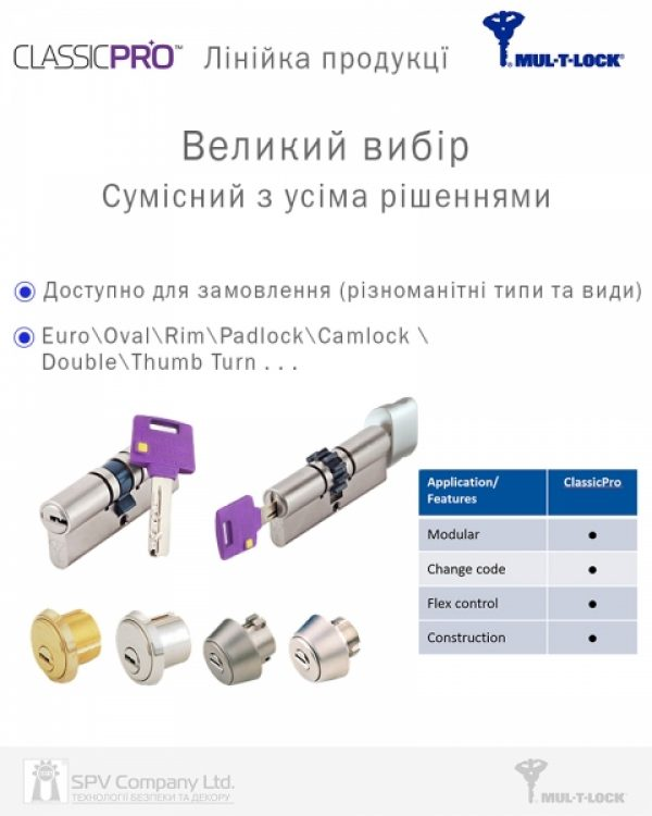 Фото 7 - Цилиндр MUL-T-LOCK DIN_KT XP *ClassicPro 115 EB 70x45T TO_SBM CAM30 3KEY DND3D_PURPLE_INS 4867 BOX_S.