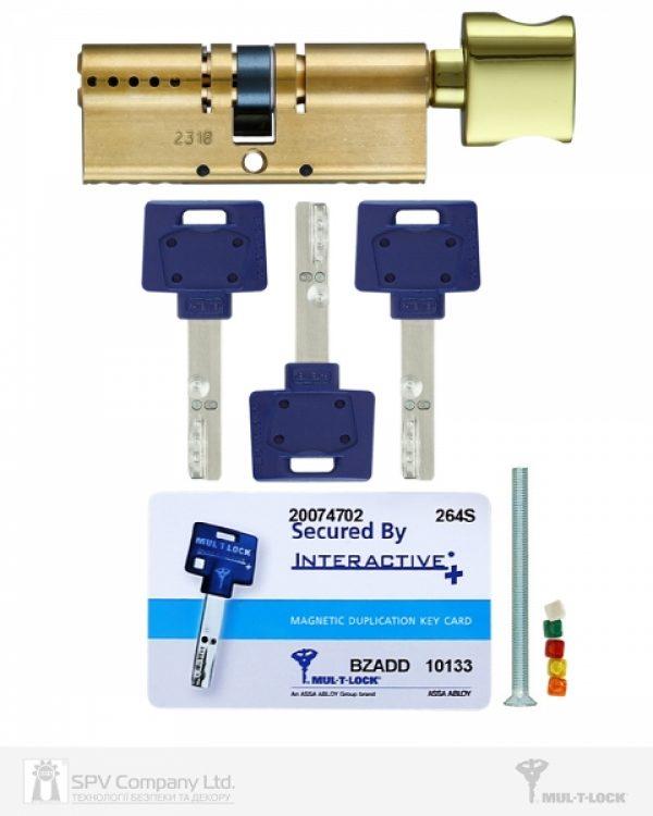 Фото 2 - Цилиндр MUL-T-LOCK DIN_KT XP *INTERACTIVE+ 95 EB 45x50T TO_SB CAM30 3KEY DND3D_BLUE_INS 264S+ BOX_S.
