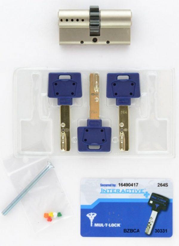Фото 4 - Цилиндр MUL-T-LOCK DIN_KK XP *INTERACTIVE+ 62 NST 31x31 CGW 3KEY DND3D_BLUE_INS 264S+ BOX_S.