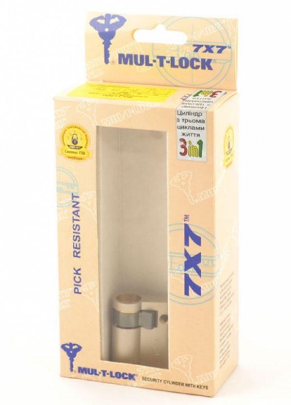Фото 3 - Цилиндр MUL-T-LOCK DIN_HALF_K 7x7 40,5 NST 31х9,5 CAM30 3in1 3KEY+1KEY+1KEY DND77_GREY_INS 0767 BOX_M.