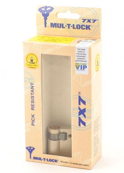 Фото 3 - Цилиндр MUL-T-LOCK DIN_HALF_K 7x7 42,5 NST 33х9,5 CAM30 VIP_CONTROL 2KEY+3KEY DND77_GREY_INS 0767 BOX_M.