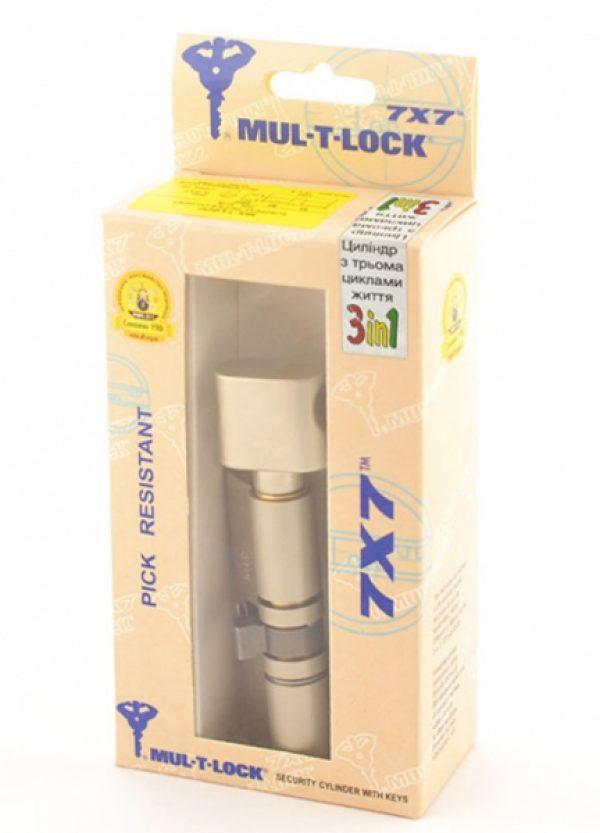 Фото 3 - Цилиндр MUL-T-LOCK DIN_KT 7x7 120 NST 60x60T TO_NST CAM30 3in1 3KEY+1KEY+1KEY DND77_GREY_INS 0767 BOX_S.