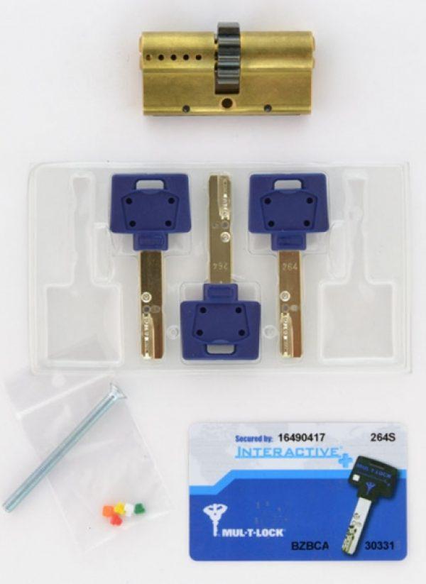 Фото 3 - Цилиндр MUL-T-LOCK DIN_KK XP *INTERACTIVE+ 62 EB 31x31 CGW 3KEY DND3D_BLUE_INS 264S+ BOX_S.