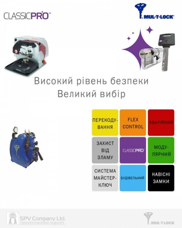 Фото 2 - Цилиндр MUL-T-LOCK DIN_MOD_KK *ClassicPro 130 EB 50x80 CAM30 3KEY DND3D_PURPLE_INS 4867 BOX_S.