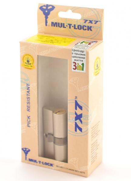 Фото 2 - Цилиндр MUL-T-LOCK DIN_KK 7x7 80 NST 40x40 CAM30 3in1 3KEY+1KEY+1KEY DND77_GREY_INS 0767 BOX_M.