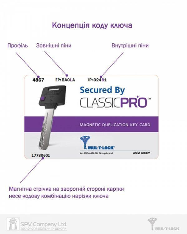 Фото 3 - Цилиндр MUL-T-LOCK DIN_KT XP *ClassicPro 90 EB 40x50T TO_SB CAM30 VIP_CONTROL 2KEY+3KEY DND3D_PURPLE_INS 4867 BOX_S.