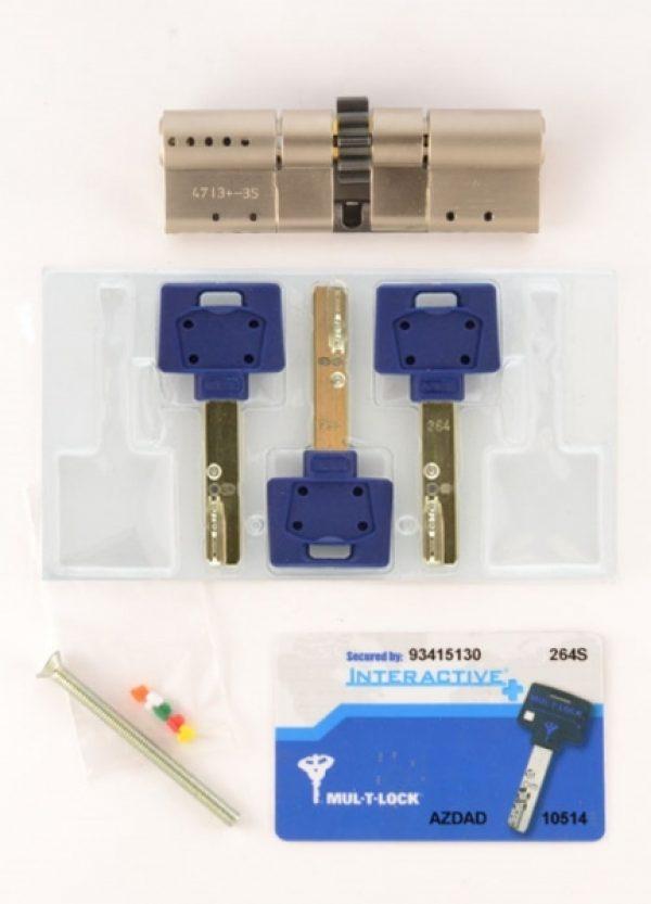 Фото 2 - Цилиндр MUL-T-LOCK DIN_MOD_KK *INTERACTIVE+ 66 NST 31x35 CGW 3KEY DND3D_BLUE_INS 264S+ BOX_S.