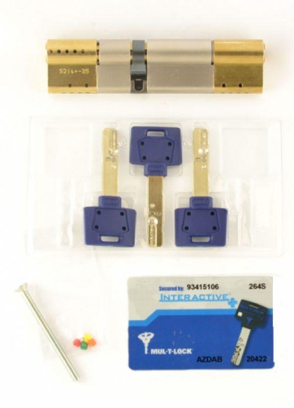 Фото 2 - Цилиндр MUL-T-LOCK DIN_MOD_KK *INTERACTIVE+ 111 EB 31x80 CAM30 3KEY DND3D_BLUE_INS 264S+ BOX_S.