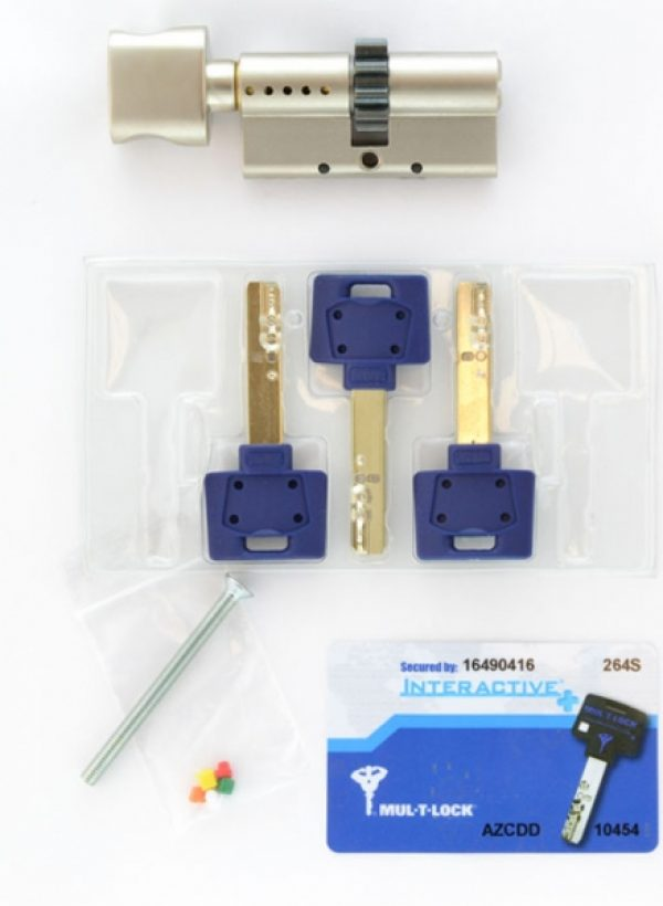 Фото 3 - Цилиндр MUL-T-LOCK DIN_KT XP *INTERACTIVE+ 80 NST 45x35T TO_NST CGW 3KEY DND3D_BLUE_INS 264S+ BOX_S.