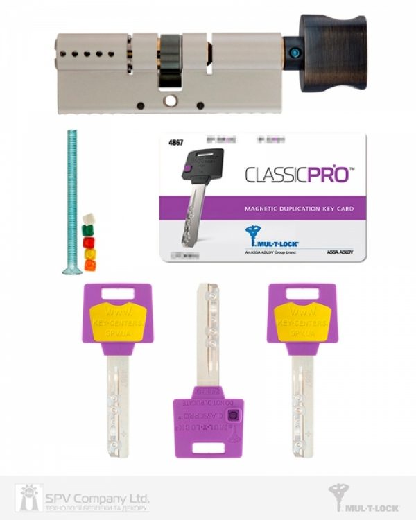 Фото 5 - Цилиндр MUL-T-LOCK DIN_KT XP *ClassicPro 80 NST 40x40T TO_ABR CAM30 3KEY DND3D_PURPLE_INS 4867 BOX_S.