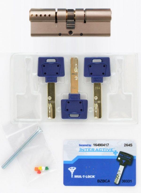 Фото 2 - Цилиндр MUL-T-LOCK DIN_KK XP *INTERACTIVE+ 90 NST 45x45 CAM30 3KEY DND3D_BLUE_INS 264S+ BOX_S.