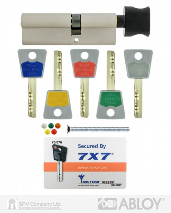 Фото 2 - Цилиндр MUL-T-LOCK DIN_KT 7x7 80 NST 45x35T TO_BE CAM30 5KEY DND77_GREY_INS 0767 BOX_C.