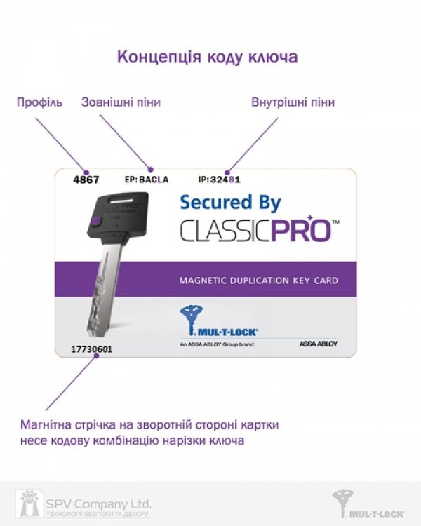 Фото 3 - Цилиндр MUL-T-LOCK DIN_KT XP *ClassicPro 92 EB 27x65T TO_SB CAM30 3KEY DND3D_PURPLE_INS 4867 BOX_S.