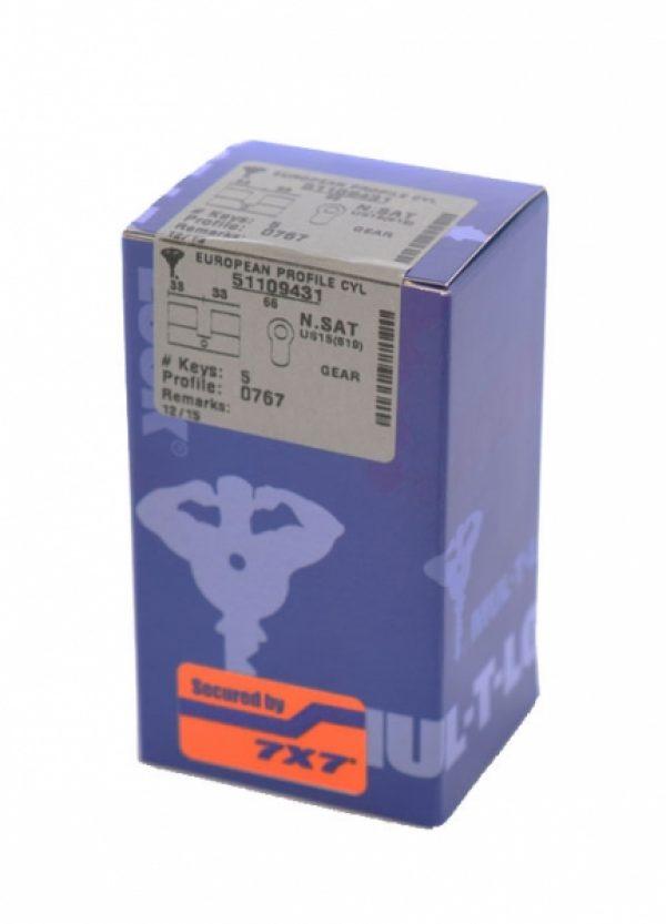 Фото 2 - Цилиндр MUL-T-LOCK DIN_KK 7x7 90 NST 40x50 CAM90 5KEY DND77_GREY_INS 0767 BOX_M.