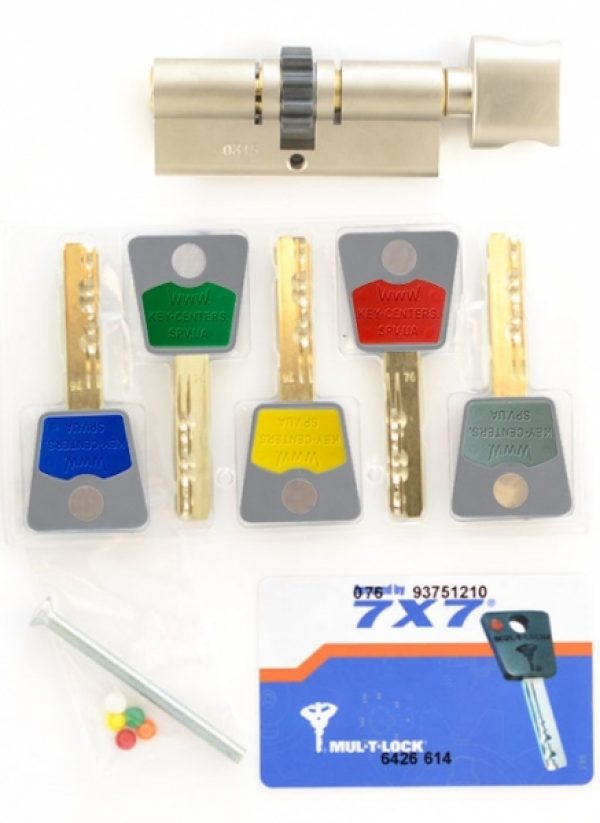 Фото 2 - Цилиндр MUL-T-LOCK DIN_KT 7x7 120 NST 60x60T TO_NST CGW 5KEY DND77_GREY_INS 0767 BOX_S.