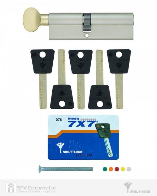 Фото 2 - Цилиндр MUL-T-LOCK DIN_KT 7x7 100 NST 55x45T TS_SB CAM30 5KEY DND77_BLACK 0767 BOX_C.