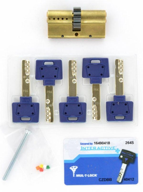Фото 4 - Цилиндр MUL-T-LOCK DIN_KK XP *INTERACTIVE+ 76 EB 33x43 CGW 5KEY DND3D_BLUE_INS 264S+ BOX_S.