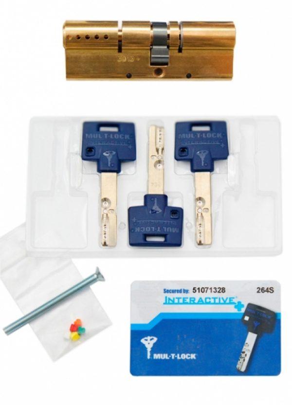 Фото 2 - Цилиндр MUL-T-LOCK DIN_KK XP *INTERACTIVE+ 62 EB 27x35 CAM30 3KEY DND3D_BLUE_INS 264S+ BOX_S.