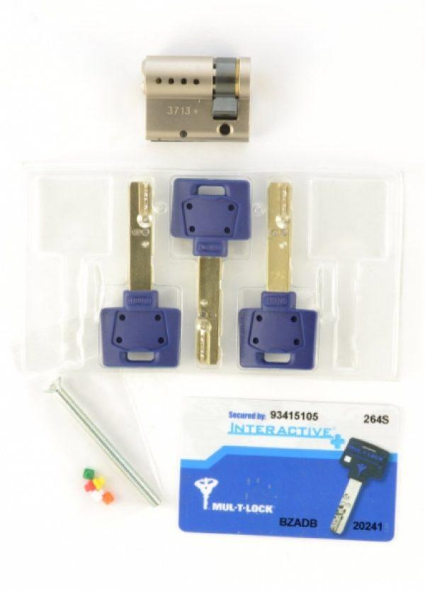 Фото 4 - Цилиндр MUL-T-LOCK DIN_HALF_K XP *INTERACTIVE+ 44,5 NST 35x9,5 CAM30 3KEY DND3D_BLUE_INS 264S+ BOX_S.