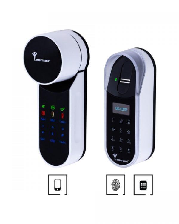 Фото 1 - Электронный контроллер MUL-T-LOCK ENTR белый с Fingerprint доступ по отпечаткам пальца + код.