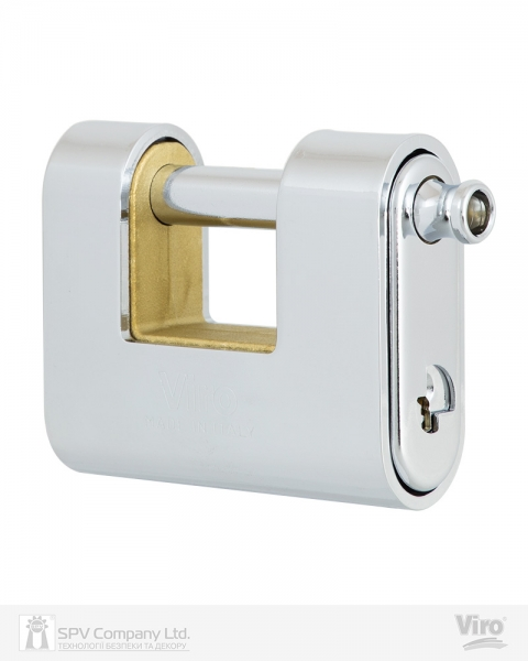 Фото 3 - Замок навесной VIRO PANZER 4117 3KEY 20мм 12мм BOX key profile patented.