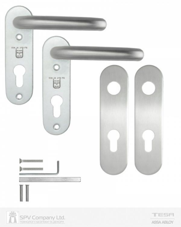 Фото 7 - Набор фурнитуры ISEO 032412 (72мм MUV-MUV CYL HOLE) I I: stainless steel 9мм.