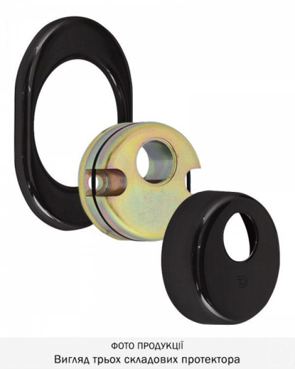 Фото 8 - Протектор DISEC CONTRO CD2000 DIN OVAL 21мм Фарба чорна 3клас N Внутренний, не регулируемый.