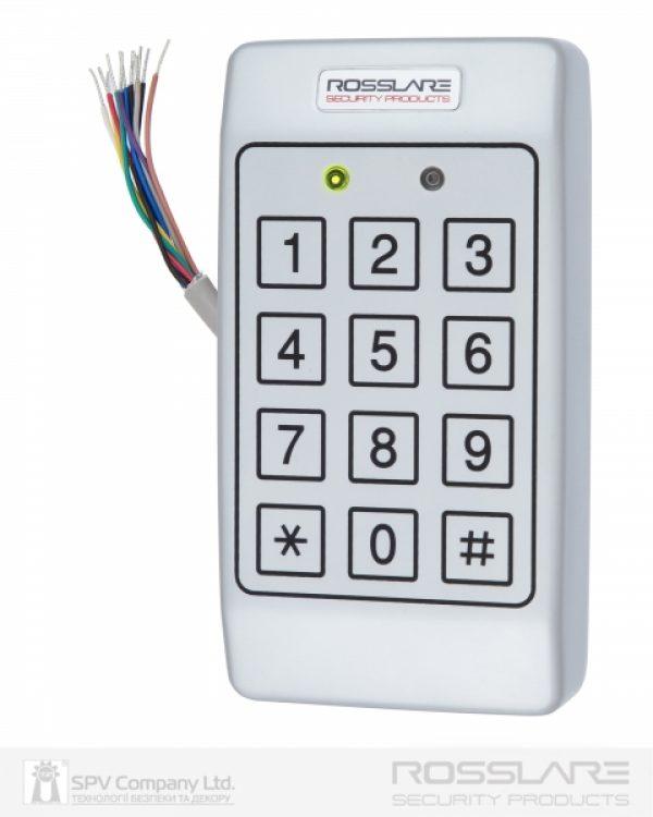 Фото 8 - Электронный контроллер ROSSLARE AC-T43 автономный антивандальный внешний код с пьезо кнопками.