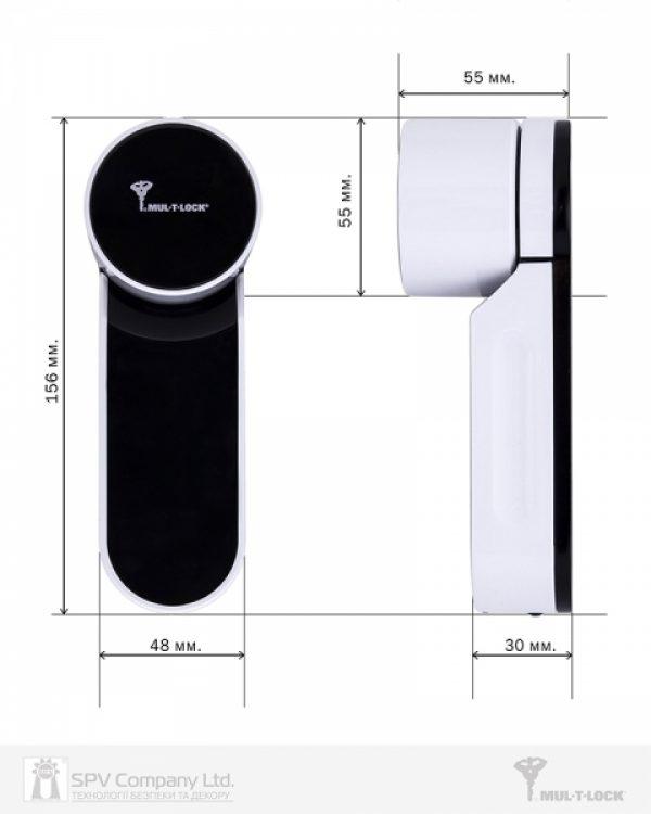 Фото 3 - Электронный контроллер MUL-T-LOCK ENTR белый с Fingerprint доступ по отпечаткам пальца + код.