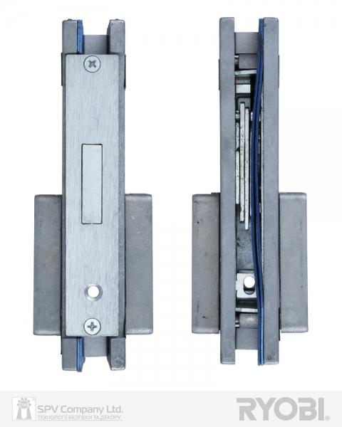Фото 4 - Замок накладной RYOBI 1-WAY DIN RP-111 CR для стеклянных дверей.