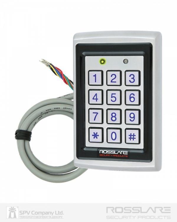 Фото 9 - Электронный контроллер ROSSLARE AC-Q42SB автономный антивандальный внешний код+карта EM-MARINE 125Khz с подсветкой.