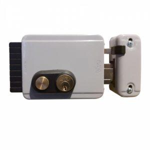 Фото 16 - Замок электромеханический VIRO BLOCK-OUT 8977.07121 BS50/80мм R 12VAC NC CYL 3KEY GATE накладной, с кнопкой, открывание внутрь GREY (UKR LEFT T1).