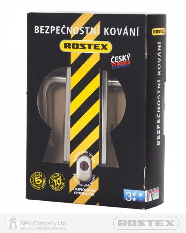 Фото 5 - Фурнитура защитная ROSTEX UNIVERSAL R mov-mov DIN PLATE 72мм Нерж.сталь мат 22мм 38-55мм 3клас Baryt NEREZ MAT Комплект.