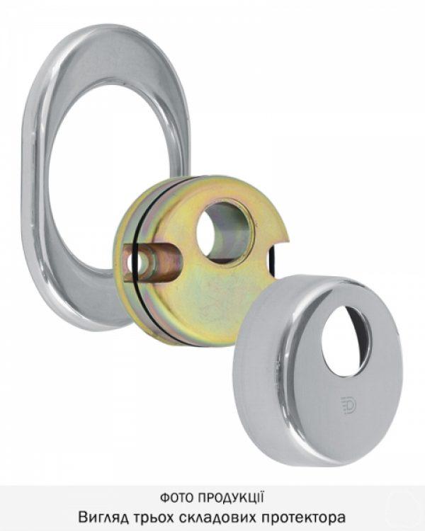 Фото 7 - Протектор DISEC CONTRO CD2000 DIN OVAL 21мм Хром полірований 3клас C Внутренний, не регулируемый.