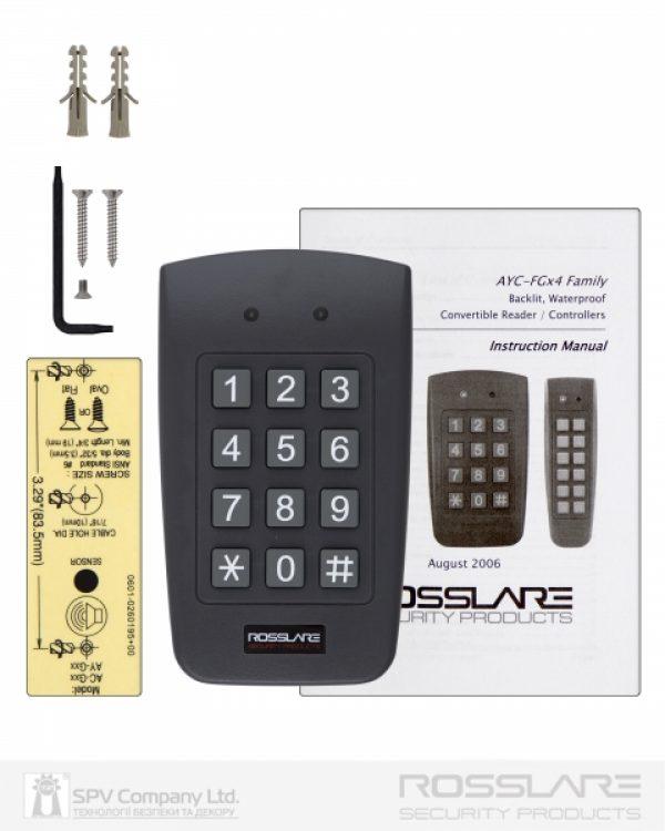 Фото 2 - Электронный контроллер ROSSLARE AYC-F64 автономный повышенной безопасности внешний код+карта EM-MARINE 125Khz.