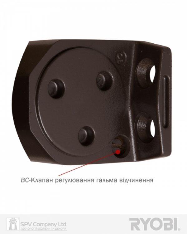 Фото 8 - Доводчик накладной RYOBI 2000 DS-2055V DARK BRONZE BC STD HO ARM EN 3/4/5 до 100кг 1250мм.