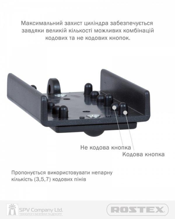 Фото 4 - Фурнитура защитная ROSTEX 807 CODE1 DIN PLATE 90мм Хром полірований 3клас CR Внешний.