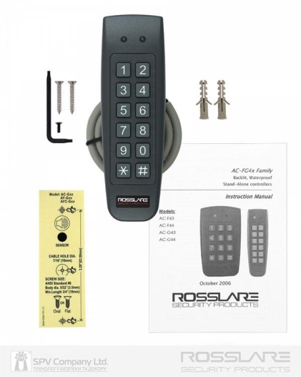 Фото 6 - Электронный контроллер ROSSLARE AC-G44 автономный внешний код+карта EM-MARINE 125Khz.