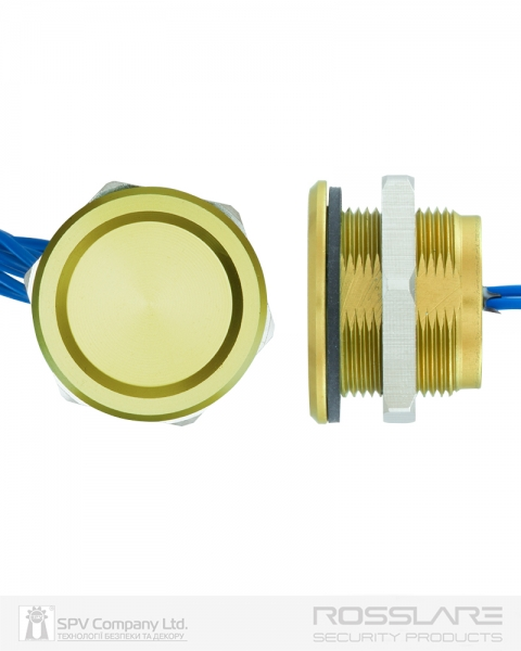 Фото 5 - Кнопка выхода ROSSLARE PX-13G наружная пьезо золота.