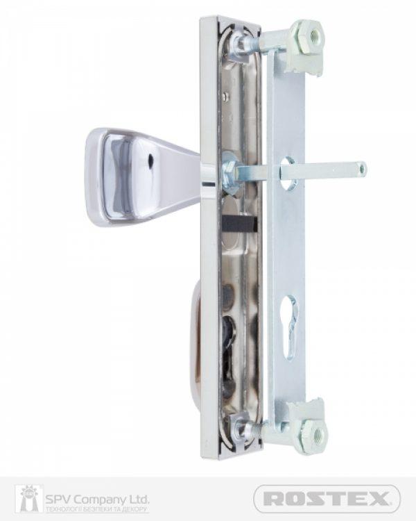Фото 3 - Фурнитура защитная ROSTEX R1/R4 R fix-mov DIN PLATE 92мм Хром полірований 22мм 38-55мм 3клас Hranate/804 CR Комплект.