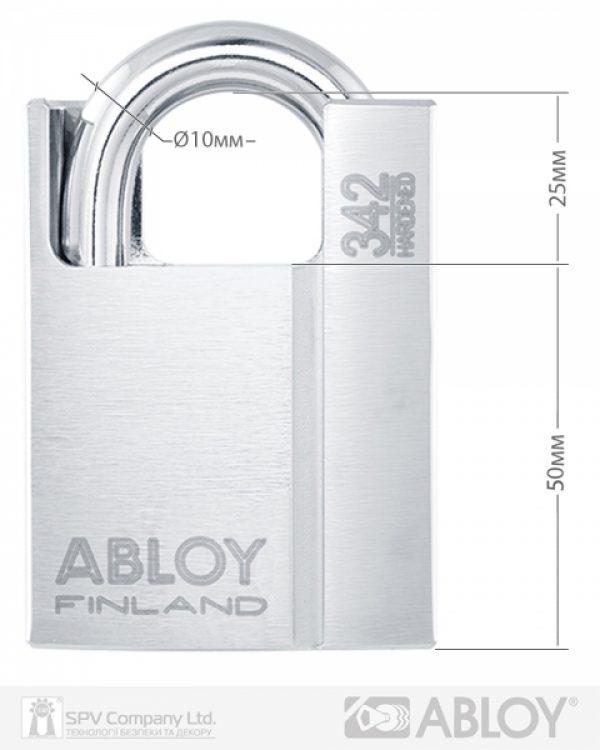 Фото 9 - Замок навесной ABLOY PL342 *PROTEC2 TA77ZZ M/S NR shackle 25мм 10мм BOX.