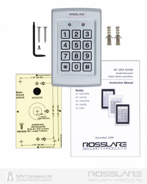 Фото 5 - Электронный контроллер ROSSLARE AC-Q41H автономный антивандальный внешний код.