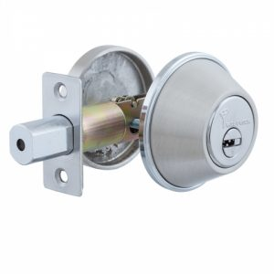Фото 15 - Замок врезной MUL-T-LOCK 1-WAY DEAD BOLT DBM SATIN NICKEL UNIV ВЅ60мм *ClassicPro 3KEY DND3D PURPLE INS 4867 SP.